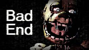 Five Nights at Freddy's 3 Bad Ending - YouTube