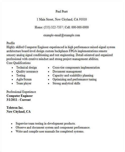 30 modern engineering resume templates free premium