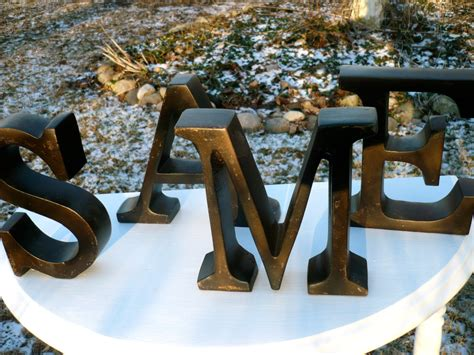 letters initial metal  decorative metal wall letters