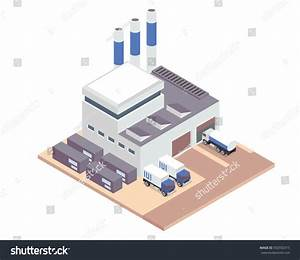 Modern Isometric Industrial Factory Warehouse Logistic