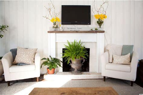 ways  decorate  fireplace   summer