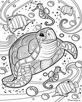 Coloring Sea Printable Adult Sheets Animal Mandala Teens Printables Turtle Rapunzel Mermaid Aquatic Mandalas Quiver Malvorlagen Colorear Mindfulness Colouring Animals sketch template