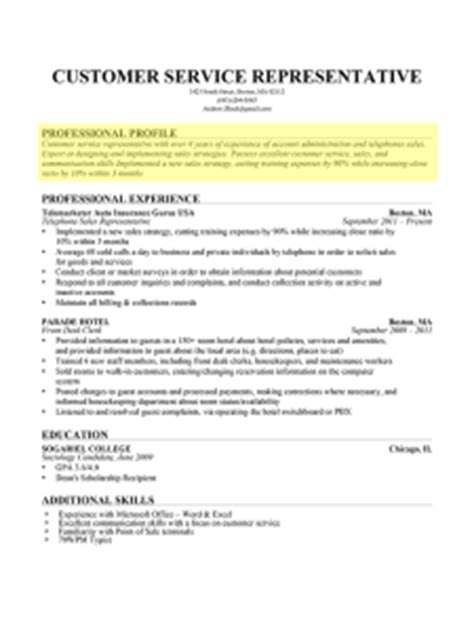 Great Resume Sentences by How To Write A Professional Profile Resume Genius