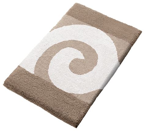 vita futura taupe non slip washable bathroom rug filou