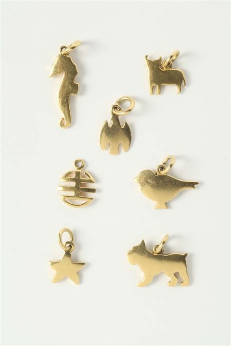 dodo pomellato charms dodo pomellato lotto composto da 7 charms argenti e
