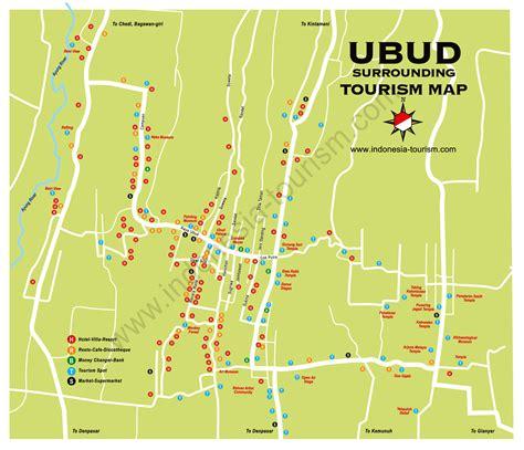 ubud area bali map bali island indonesia tourism maps