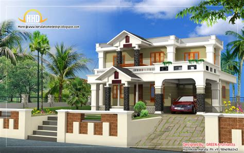 Exterior Collections Kerala Home Design (3d Views Of