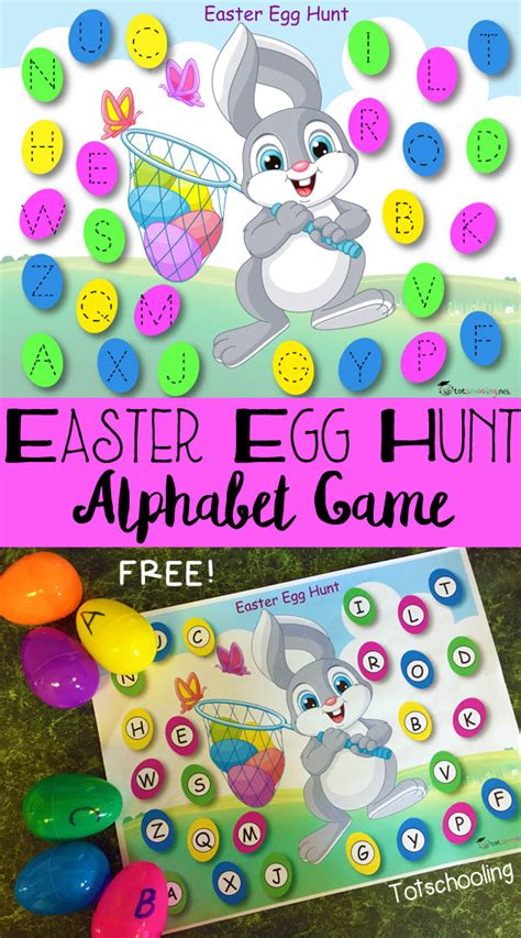 easter egg hunt alphabet amp free printable 839 | Easter Egg Hunt Alphabet Game