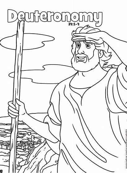Deuteronomy Bible Coloring Books Activities Pdf Activity