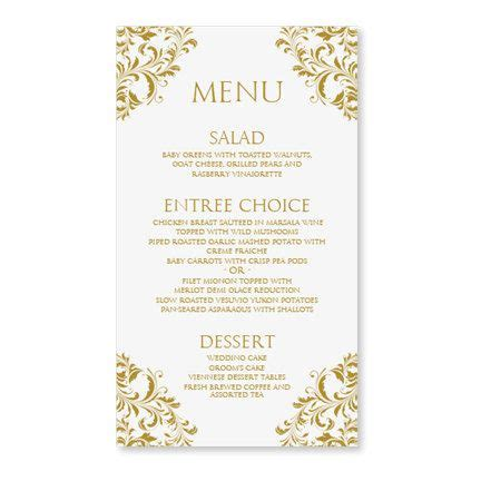 menu card template wedding menu card template by diyweddingtemplates