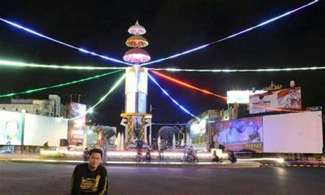 gambar tugu adipura gajah bandar lampung dibongkar