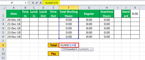 timesheet  excel  easy steps  create timesheet