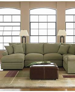 Doss fabric microfiber sectional sofa 4 piece left arm for Armless sectional sofa chaise