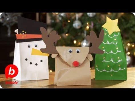 christmas gift bags tree reindeer snowman