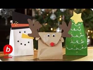 Make 3 Christmas Gift Bags Tree Reindeer & Snowman