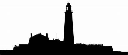 Silhouette Landscape Clipart Lighthouse Skyline Getdrawings Clip