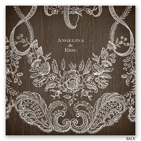rustic lace invitation invitations  dawn