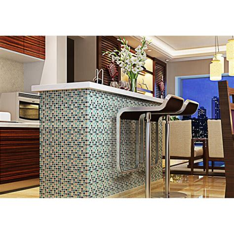 cheap glass tiles for kitchen backsplashes blue glass tile mosaic sheets beige crackle 9404