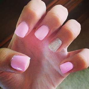 Gel Nails. Light pink with silver   Beauty   Pinterest ...