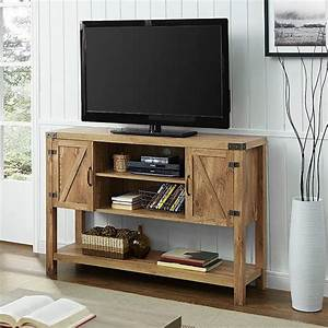 Walker edison furniture company barnwood fire place for Barnwood media cabinet