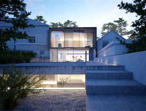 Modern Style Architectural Renders by Houses Residential Buildings E Architect