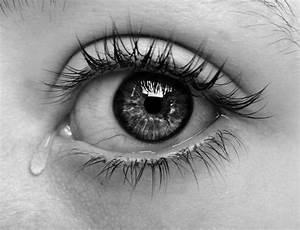 beautiful, black and white, crying, dark - image #532441 ...