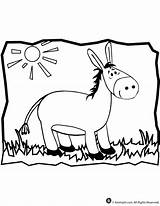Donkey Coloring Pages Printable Animal Mule Template Cartoon Jr Balaam Sheet Craft Getcoloringpages Popular Classroom sketch template