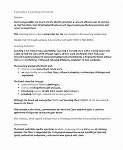 8 coaching contract templates free sample example With coaching contracts templates