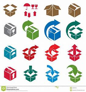 Packaging Boxes Icons Vector Set, Delivery Theme Stock ...