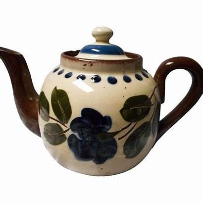 Teapot Floral Unusual Motto Ware