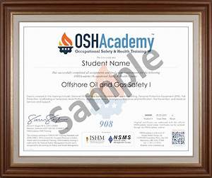 Offshore Oil Gas Safety I Oshacademy Free Online Training