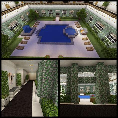 minecraft  pool hot tub balcony hallway grill