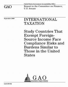 GAO 09 934 International Taxation Study Countries That ...
