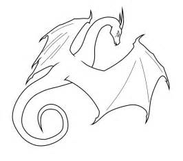 Dragon Outline Drawing