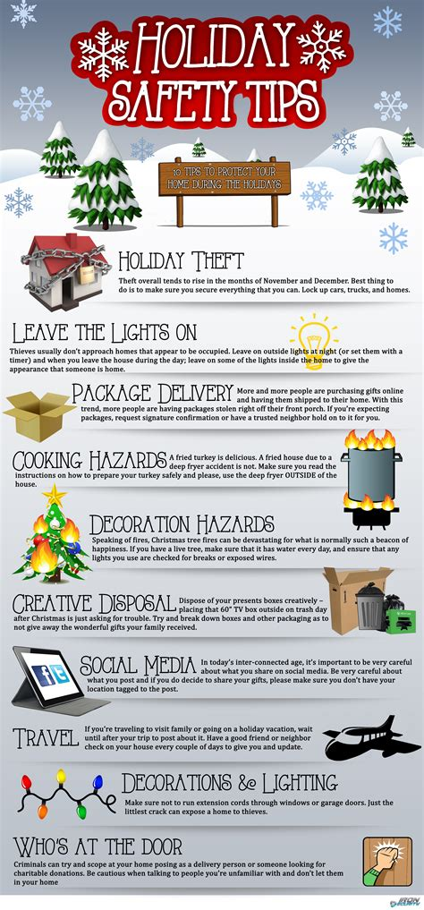 Holiday Safety Tips Infographic Best Infographics