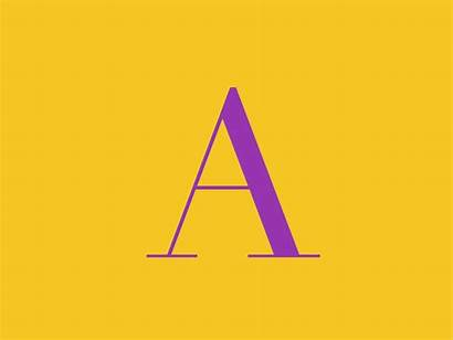 Alphabet Animation Dribbble Letters Typography Motion Vector