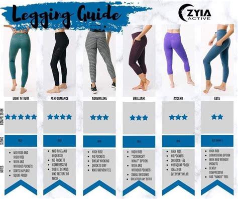 zyia active chart sizing leggings myzyia zyiaactive hollie