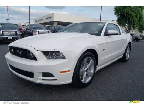 performance white  ford mustang gt premium coupe