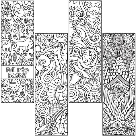 bookmarks to color fall coloring bookmarks coloring pages