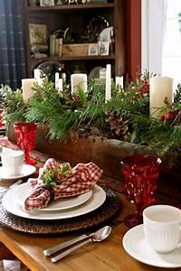 Table De Noel Traditionnelle : 24 inspiring rustic christmas table settings digsdigs ~ Melissatoandfro.com Idées de Décoration