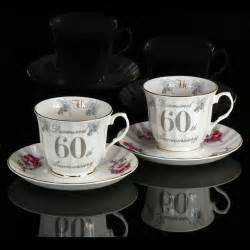 60 wedding anniversary shared memories gifts australia 60th wedding anniversary cup and saucer set
