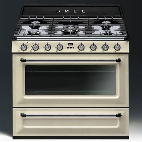 smeg gas range cookers smeg tr90p1 90cm single cavity dual fuel range cooker appliance city