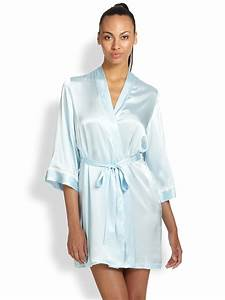 in bloom the mrsquot wrapper satin robe in blue lyst With robe fourreau satin
