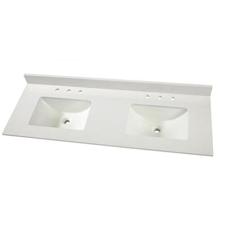 home depot sink tops home decorators collection 61 in w x 22 in d engineered
