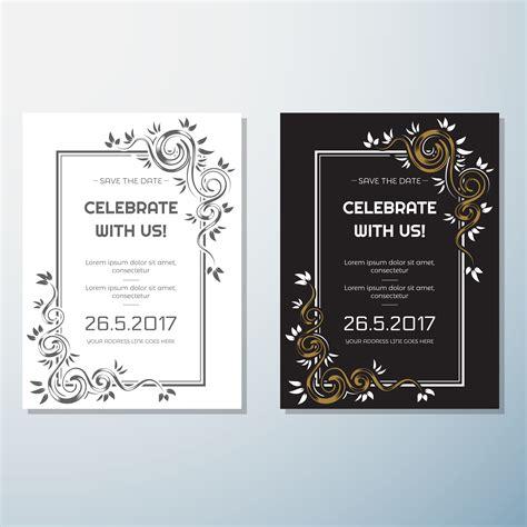 wedding invitation vintage flyer background design