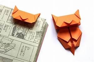 Marque Page En Papier : marque pages en papier origami en forme de chat orange marque pages par la boutique de ~ Melissatoandfro.com Idées de Décoration