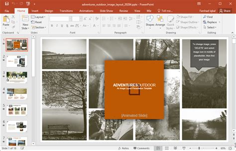 adventures outdoor image template  powerpoint