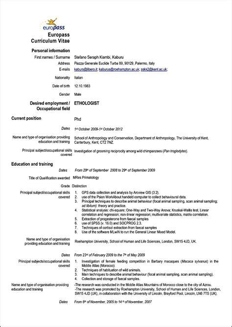curriculum vitae resume format curriculum vitae format romana free sles exles format resume curruculum vitae