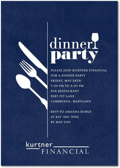 Darling Dinner Party Corporate Event Invitations in