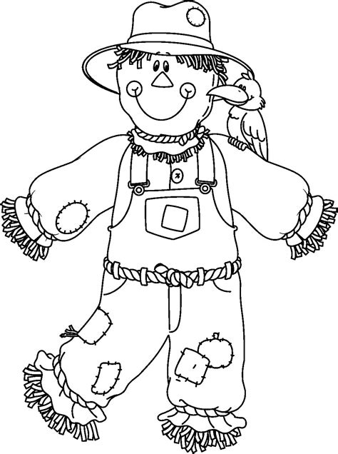 cute scarecrow coloring pages getcoloringpagescom